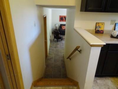 kitchen to lower level