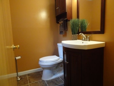 lower level half bath